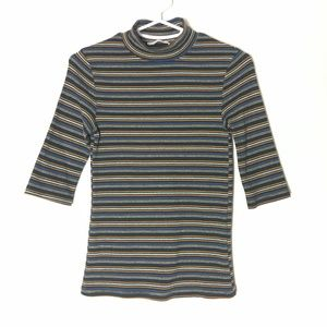 Zara Sweater Girls M 3/4 Sleeve Blue Retro Striped